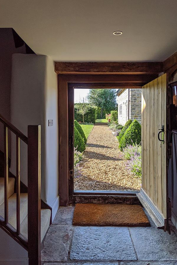 Door through the the garden from The Garden Room at Middle Farm House B&B