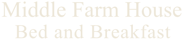 Middle Farm House B and B logo in Eggshell colour